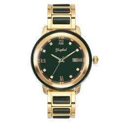 Timepiece van de nieuwigheid de Mensen van het Polshorloge van de Jade van de Nefriet van de Premie van Japan Movt