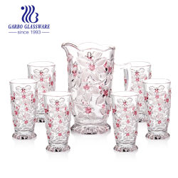 7PCS presente de promoção de consumo de água de mesa de Vidro Vaso Jarro Cup Definido