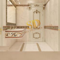 عربيّ دار غرفة حمّام جدار زخرفة بسيطة [وترجت] رخاميّة حاجة تصاميم