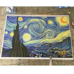 Murale famoso della pittura del Van Gogh di arte di vetro del mosaico del cielo stellato da vendere