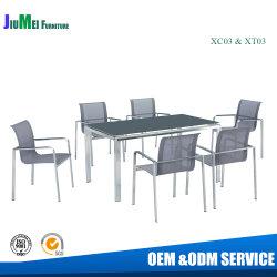 Китайский ресторан из нержавеющей стали в Саду стул обеденный стол мебель (XC03 & XT03)