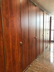 À prova de grãos de madeira laminado compacto wc preços partições