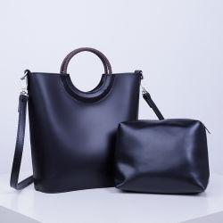 레저 스타일 PU Lady handbag 2pcs 1 토트백 세트 Sh893