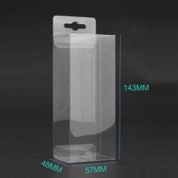 Venda por grosso de PVC transparente personalizados/Pet visor caixa de embalagem de plástico dobrável