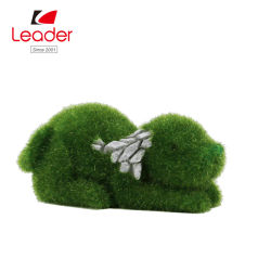 Mini Garden Dog Figurine met kunstgras, Mini Garden Decoration