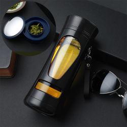 Bouteille d'eau en verre Sport portable avec étui en silicone titulaires