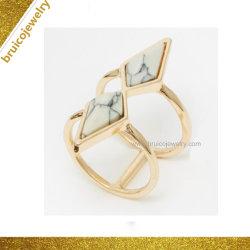 De in het groot Nieuwe Juwelen Hip Hop 925 van de Ruit van de Douane van de Halfedelsteen van het Ontwerp de Echte Zilveren Ring van de Juwelen van de Manier voor Vrouwen