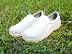 倍密度PU/PU Outsoleの白いMicrofiberの上部の注入の安全靴