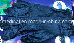 Libre de polvo desechables de vinilo Guantes de PVC blanco y negro