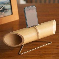 Мобильный телефон из бамбука динамик/ громкий динамик