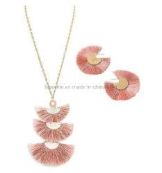 Le design de mode Placage or populaire Tassel bijoux Set Tassel ensemble de la poignée de commande