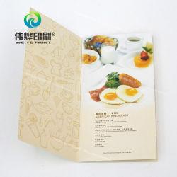 맞춤형 레스토랑 메뉴 브로셔 컬러 인쇄