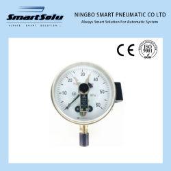 Il montaggio inferiore industriale magnetico di Schioccare-Azione Yxc-100 digita il manometro elettrico del contatto