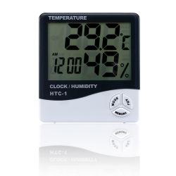 Цифровой термометр гигрометр с часами измеритель влажности температуры домашних хозяйств