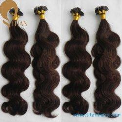 30% fuori dai capelli indiani Extenison della cheratina dei capelli umani di Remy
