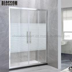 Gedruckter Sicherheitsglas-Dusche-Tür-Bildschirm des Glas-2 schiebender abgehärteter