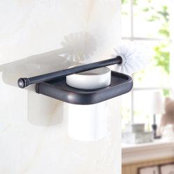 陶磁器のコップオイルが付いているFlgの洗面所のブラシホルダは浴室を摩擦した