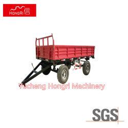 Ferme à essieu simple Tractor-Mounted remorque benne basculante