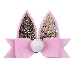 Queenbaby DIY Handmade Hairgrips élastique de l'oreille de lapin de bande de cheveux en nylon Cute Kawaii Bow les pinces à cheveux pour fille