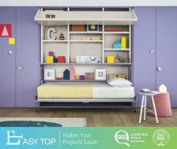 Eco Friendly Almirah armoire en bois de gros Cabinet placard penderie avec lit pour enfants de bricolage