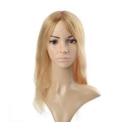 Système de cheveux Mono Base fine avec des clips pour les femmes