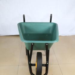 철 건축 남아프리카를 위한 싼 가격 65L 녹색 Bucker 외바퀴 손수레 (Wb3800)