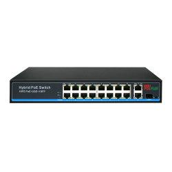 16 ports Poe 10/100 Mbps commutateur avec 2G+1giga Ports Uplink SFP Meilleur prix