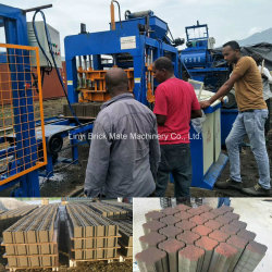 Qt4-15 en blocs de ciment hydraulique automatique Appuyez sur la machine pour la couleur de brique solide de blocs creux finisseur
