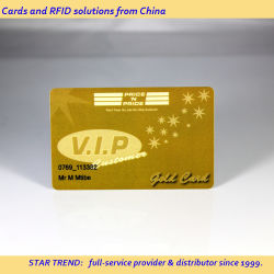 メタリックゴールドプリントと磁気ストライプを使用した VIP メンバーシップカード