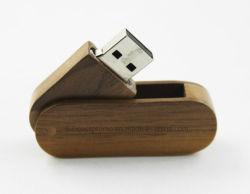 Houten USB-stick met USB-stick, USB-stick van 2 GB met logo