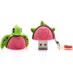 De dierlijke Mooie Giften van Pendrive van de Stok van de Aandrijving USB van de Pen van de Schildpad van het Beeldverhaal van de Aandrijving van de Flits van de Schildpad USB 16GB 4GB 8GB 32g 64GB
