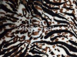 Pelliccia del coniglio del Faux stampata nuovo leopardo
