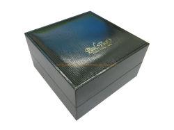 Piel sintética de plástico personalizadas de papel dentro de una sola ranura PU Ver pantalla regalo Caja de embalaje almacenamiento