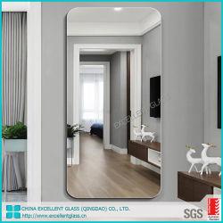 Salone integrale del montaggio della parete che veste lo specchio diritto dell'argento dello specchio della parete dello specchio del pavimento dello specchio che veste lo specchio del bagno di Frameless dei prodotti dello specchio