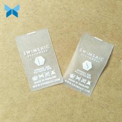 Douane die de Transparante Toebehoren van Swimwear van het Etiket TPU afdrukken