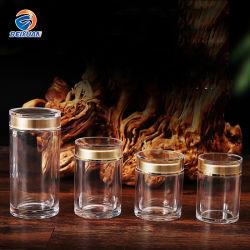 80ml de grado alimentario Mayorista de acrílico de lujo de Cordyceps sinensis Botella, contenedor de productos de cuidado de salud, el Azafrán Food Jar envases de fantasía de botellas
