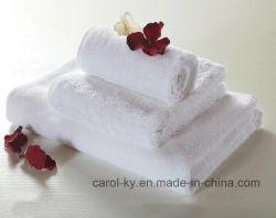 Coton blanc ordinaire de l'hôtel Serviette de bain d'alimentation