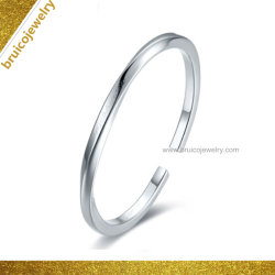 Bijoux en or blanc Nice Rhodium luxe 925 Sterling Silver Good-Looking Bangle Cuff Bangle