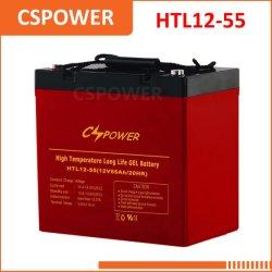 China Fabricação 12V55ah Bateria de gel de alta temperatura - Telecom, USP Computador