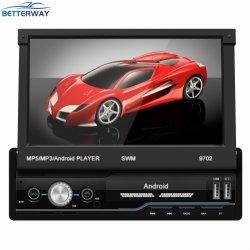 Écran tactile escamotable DAB 1DIN Stéréo Bluetooth FM suis Android Voiture Lecteur de DVD de la Radio Navigation GPS Navigator de planche de bord Voiture Lecteur MP5