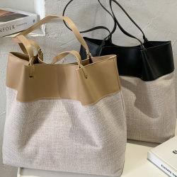 Sacola grande de alta capacidade de 2020 mulheres novas bolsas de costura Ins moda casual Estilo saco One-Shoulder Tide