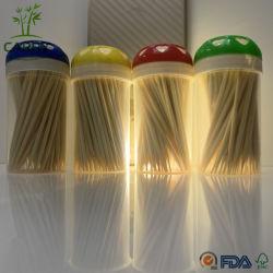70ПК стоматологическая зубьев подборщика бамбук зубочистки с портативным случае гигиены полости рта