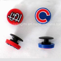 Los botones de la decoración de la zapata de PVC blando