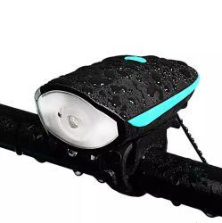 2021 Hot Sale Bike corne enceinte extérieure des feux de vélo de montagne Vélo LED rechargeables USB Jeu d'éclairage avant
