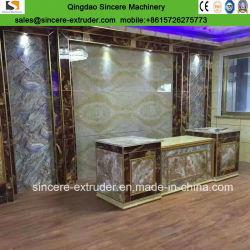PVC recouvert de marbre feuille décorative Ligne de production de l'extrudeuse de feuille en PVC