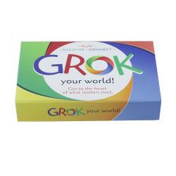 Confezione di carta magnetica di lusso personalizzata per giocare a poker grok Schede