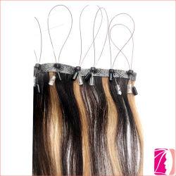 Trama della pelle del branello della pelle legata capelli di Remy della cuticola micro