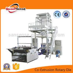 De Vastgestelde Machine van de Extruder van de plastic Film met Roterende de Co-extrusie van Twee Laag