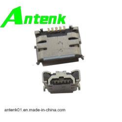 Conectores USB do micro com B receptáculo do tipo do extrator 4 DIP Shell