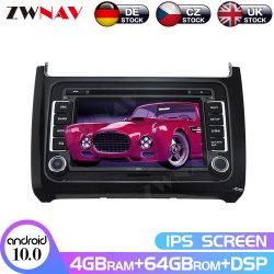 IPS Android 10.0 4+64 écran Lecteur de DVD de voiture GPS pour Volkswagen Polo 2015-2017 Navi Auto Radio Stéréo Unité de tête de lecteur multimédia